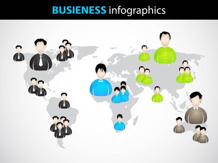 set of businessman: business infographics with special businessman icons