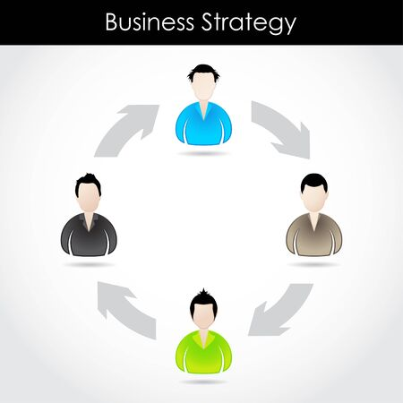 special business strategy concept with special businessman icons Vector