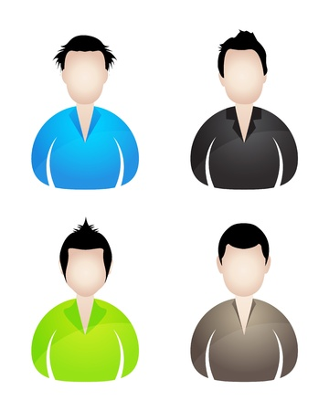 userpic: four businessman icons