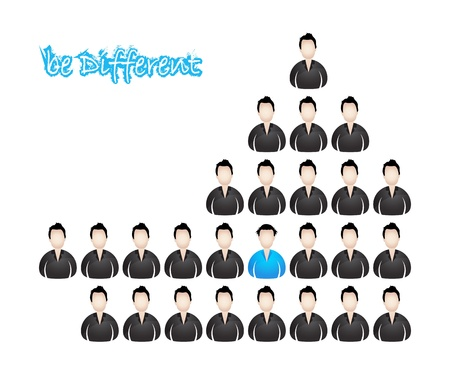 be different, vector illustration with special design Vector