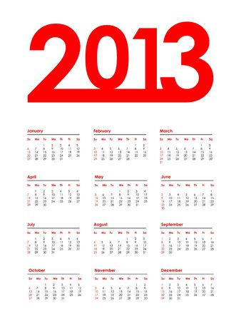 2013 calendar with special design Vector