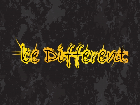 singular: be different vector background with special grunge design