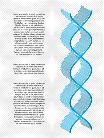 double helix: medical background with a special DNA strand  Illustration