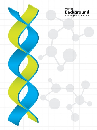 DNA strand with special design - medical background Vector