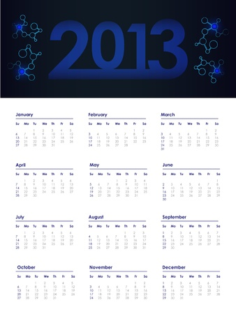 2013 year calendar Stock Vector - 17957748