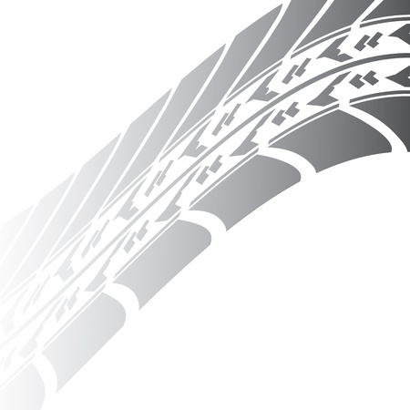 tread: black tire track design for your transportation website Illustration