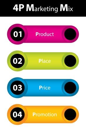 special marketing mix design Vector