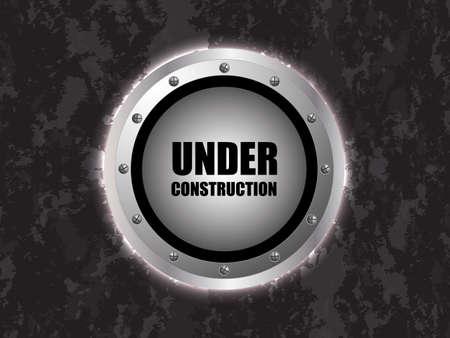 under construction background with metallic design Vector