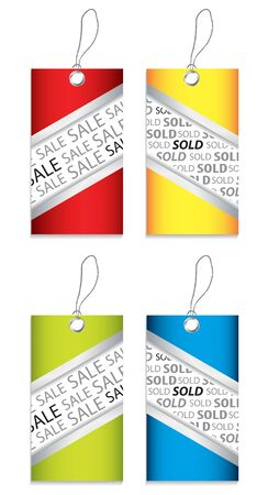 ean: price tag set with special design Illustration