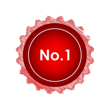 no1: special label with no.1 text