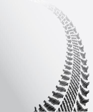 huellas de neumaticos: neumático pista de fondo con el diseño de dibujo especial Vectores