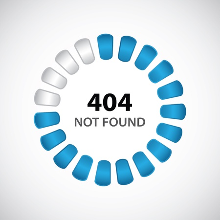 website window: 404 error concept with special design