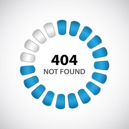 fouten: 404-fout concept met speciaal ontwerp