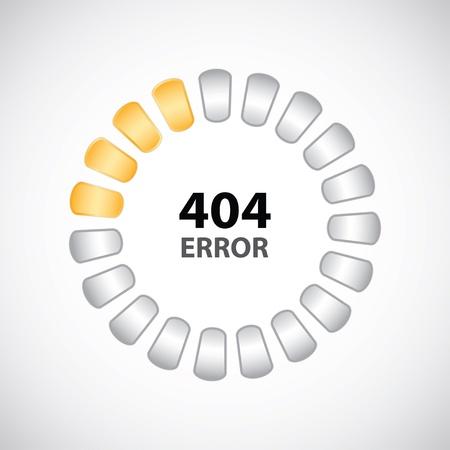 404 error concept with special design Stock Vector - 18460231