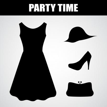 robe noire spéciale Vecteurs