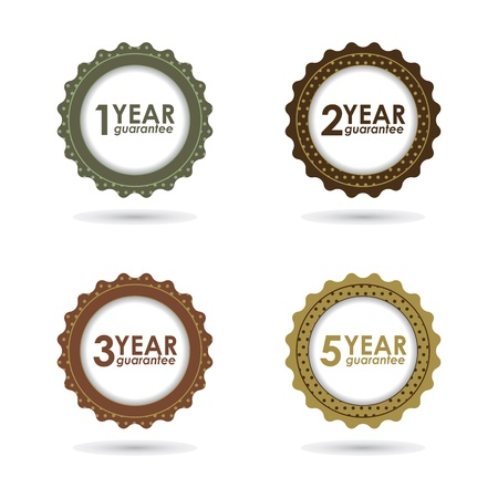 special guarantee sign, warranty label with hipster design Stock Vector - 18992328