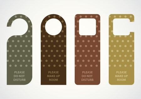 hotel do not disturb door hanger with hipster design Vector