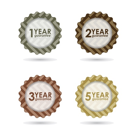 two year: special  guarantee sign, warranty label with hipster design Illustration