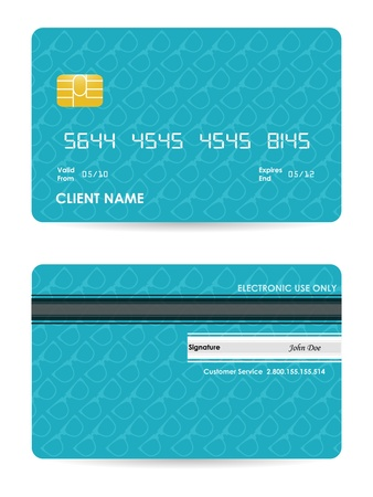 vector illustration of detailed credit card with hipster design Vector
