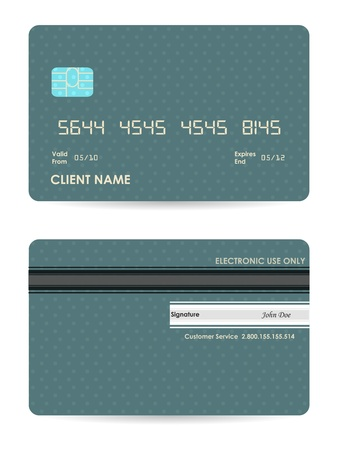 credit card icon: vector illustration of detailed credit card