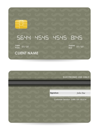 plastic card: vector illustration of detailed credit card