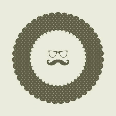 special labels with hipster mustache  Vector