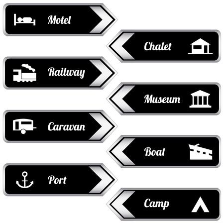 tourist icon: Tourist locations icon set