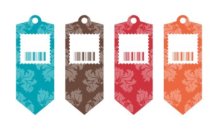 Price tags with floral design Vector