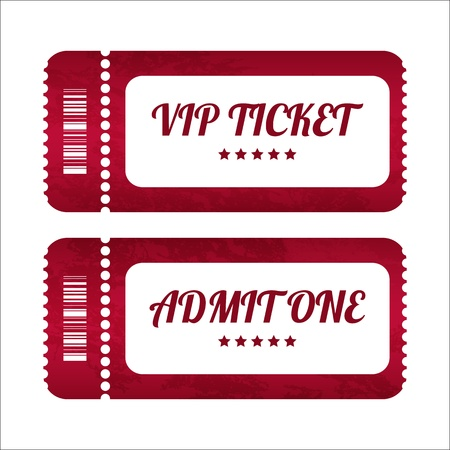 vintage paper tickets with special design Vector
