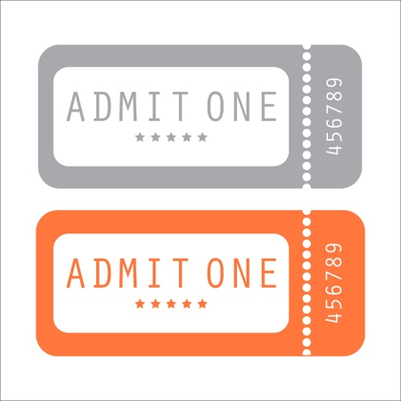 purchased: movie ticket Illustration