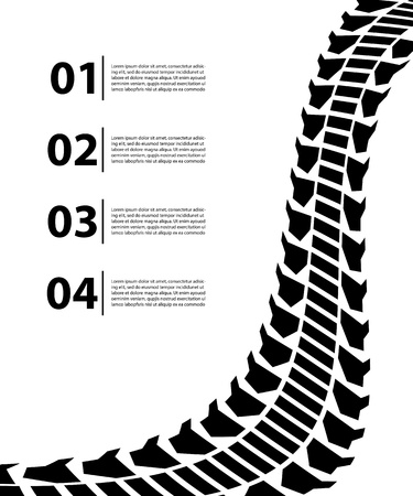 tire track background Stock Vector - 20310959