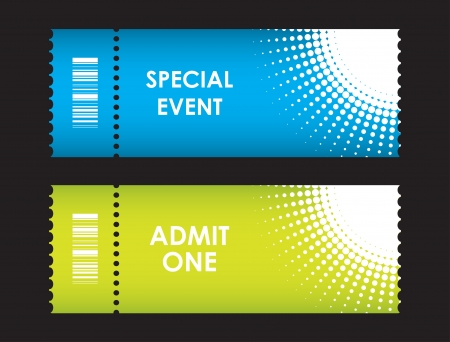 admit: admit one cinema ticket Illustration