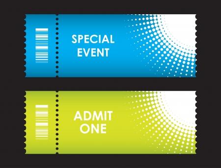 stub: admit one cinema ticket Illustration