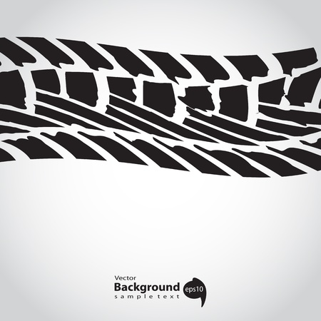 background with special grunge black tire track Stock Vector - 20555938
