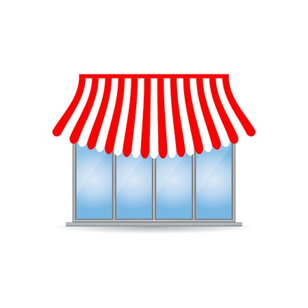 frontdoor: shop icon with special design Illustration