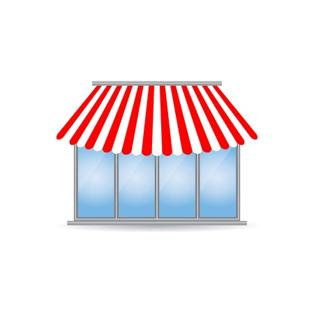 frontdoor: shop icon with special design Illustration