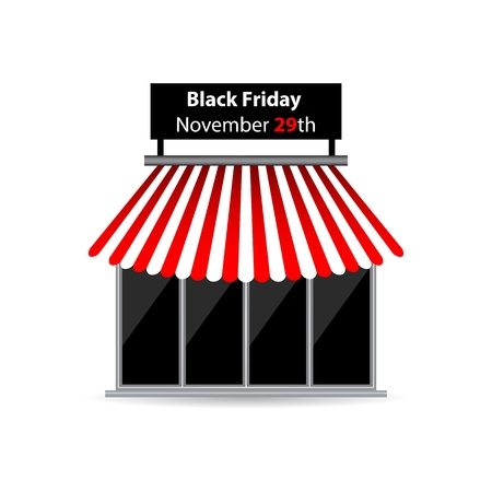 black friday shop icon with special design Vector