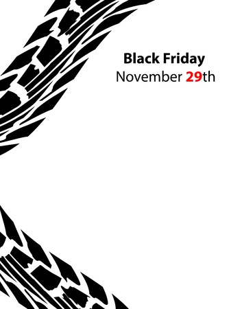 special black friday banner with tire design Vector