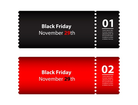 coupon: black friday coupon Illustration