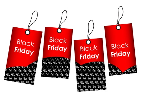 price tags with black friday design Vector