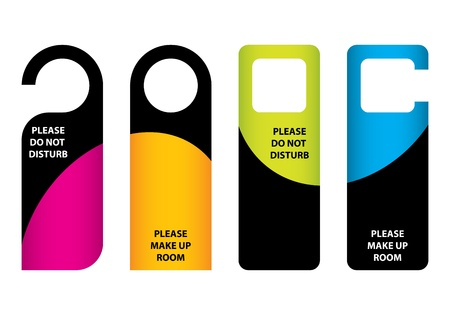 hotel do not disturb door hanger with special design Vector