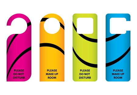 door: hotel do not disturb door hanger with special design