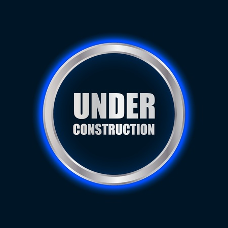 vector under construction sign with plasma design Stock Vector - 20989949