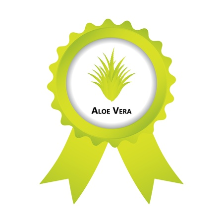 label with aloe vera design Stock Vector - 20989957