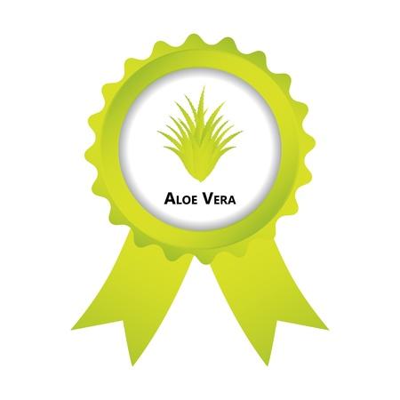aloe vera plant: label with aloe vera design