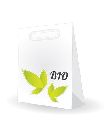 shopping bag with special natural design Stock Vector - 20989959