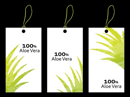 special price tag with aloe vera design Stock Vector - 20989960
