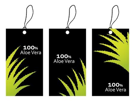 special price tag with aloe vera design Stock Vector - 20989982