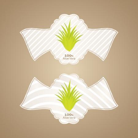 aloe vera labels with special design Stock Vector - 20989983