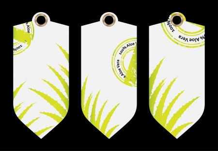 special price tag with aloe vera design Stock Vector - 20989984